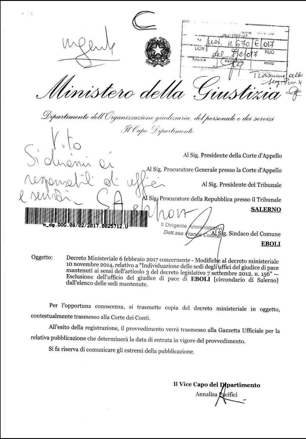 Trasmissione decreto7