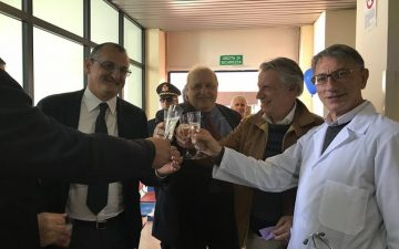 Cariello-Minervini-Giordano-inaugurazione ambulatorio pediatrico Eboli
