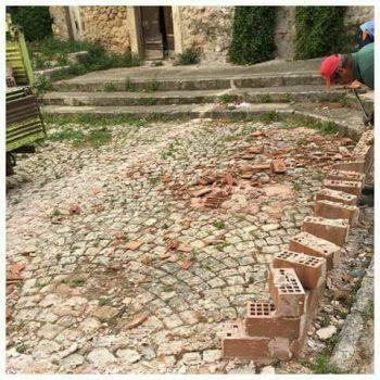 Piazzetta San Lorenzo-rimozione manufatto
