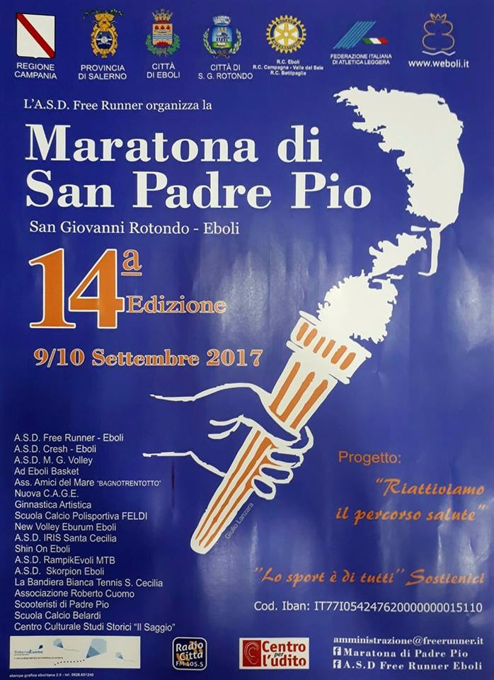 Eboli 14 maratona di San Padre Pio