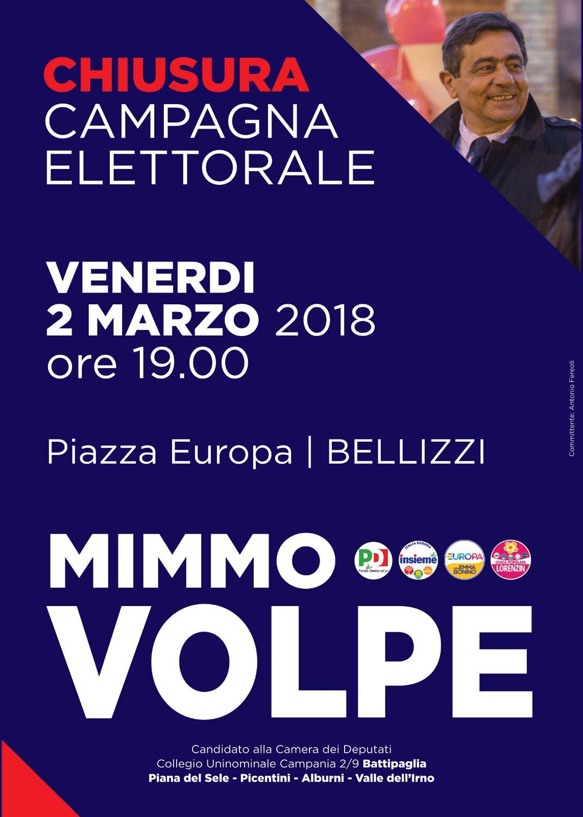 mimmo Volpe-chiusura campagna elettorale Bellizzi