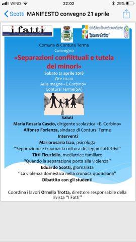 convegno Contursi Terme Separazioni consensuali e diritti dei minori
