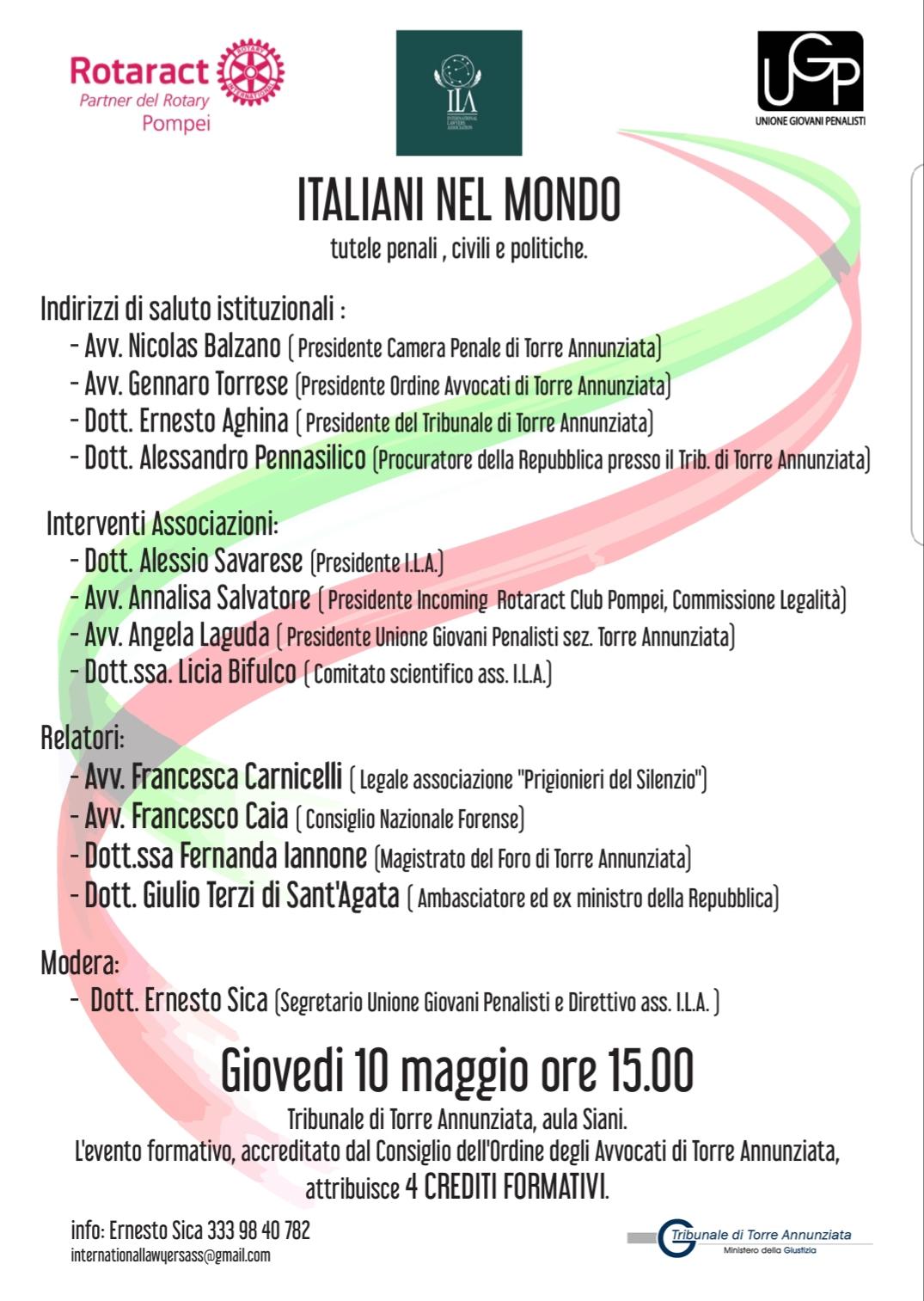 Aggiornamento italiani nel Mondo