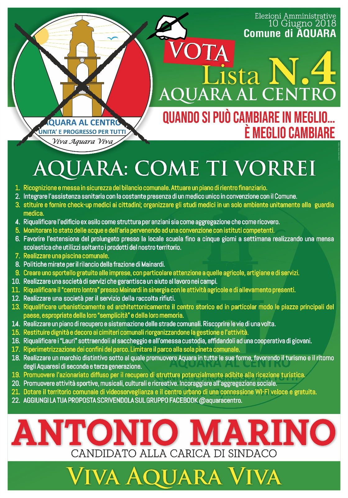 elezioni Aquara-programma candidato Marino
