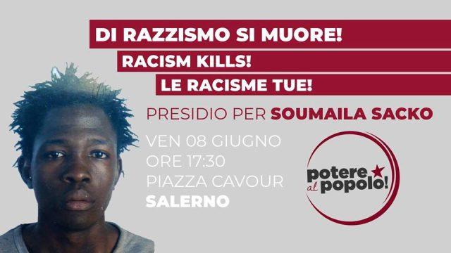 di razzismo si muore-manifestazione-Salerno