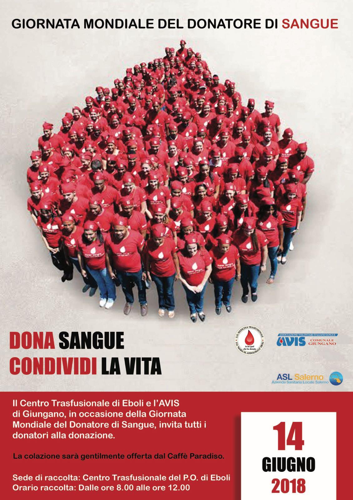 Giornata della Donazione Sangue Ospedale di Eboli