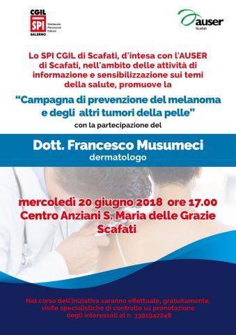 prevenzione melanoma Scafati