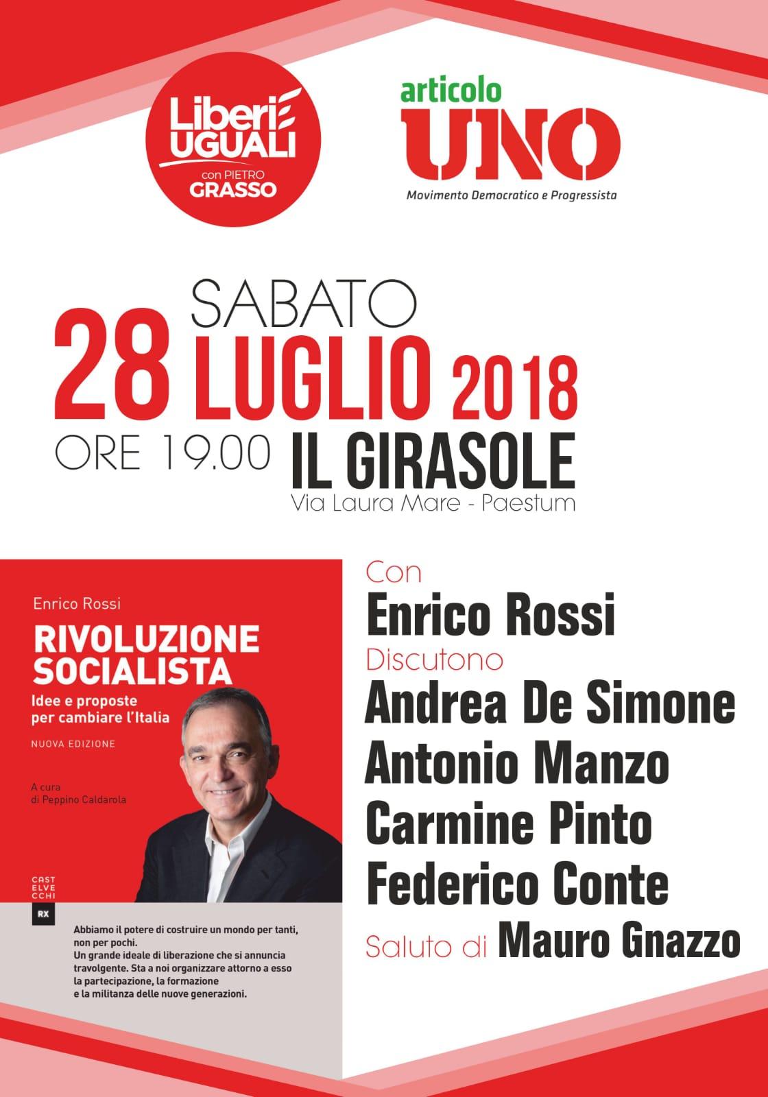 Convegno con Enrico Rossi a Paestum