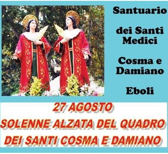 programma festività santi Cosma e Damiano