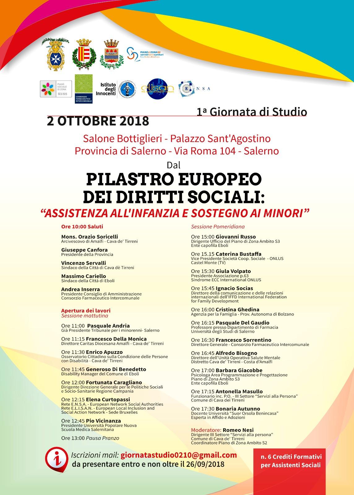 servizi sociali- incontro Salerno