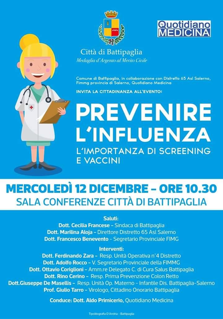 Battipaglia-prevenire l'influenza