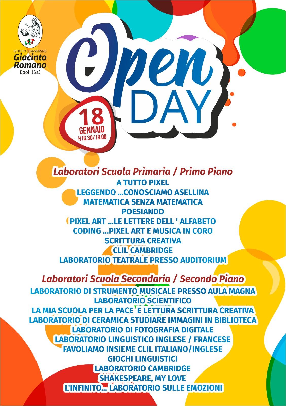 Open Day Giacinto Romano
