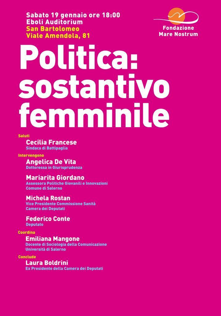 """Eboli-Incontro-dibattito- Donne & Politica""""-Laura Boldrini"""