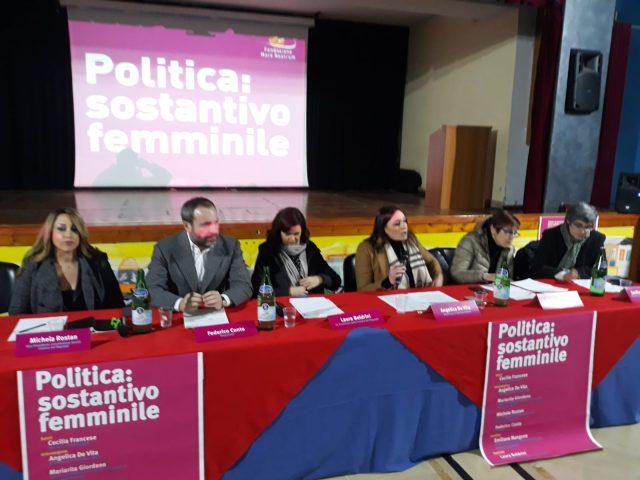 Donne in politica-convegno Eboli-Rostan-Conte-Boldrini-De Vita-Francese-Mangone