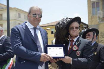 Inaugurazione monumento e Piazza al Bersagliere Eboli Fausto Vecchio