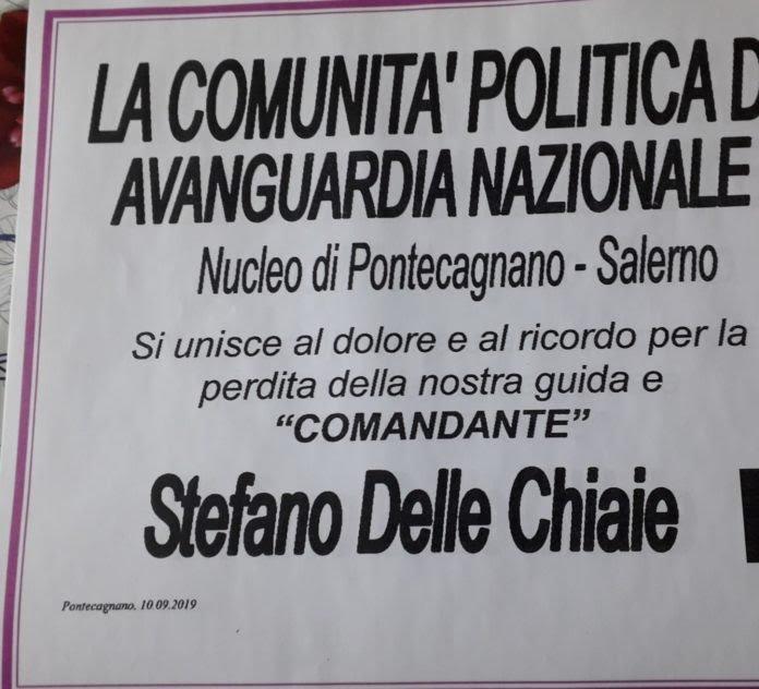 Manifesto funebre a Delle Chiaie