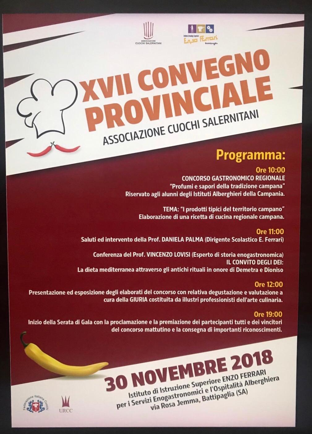 Battipaglia XVII Congresso provinciale cuochi salernitani