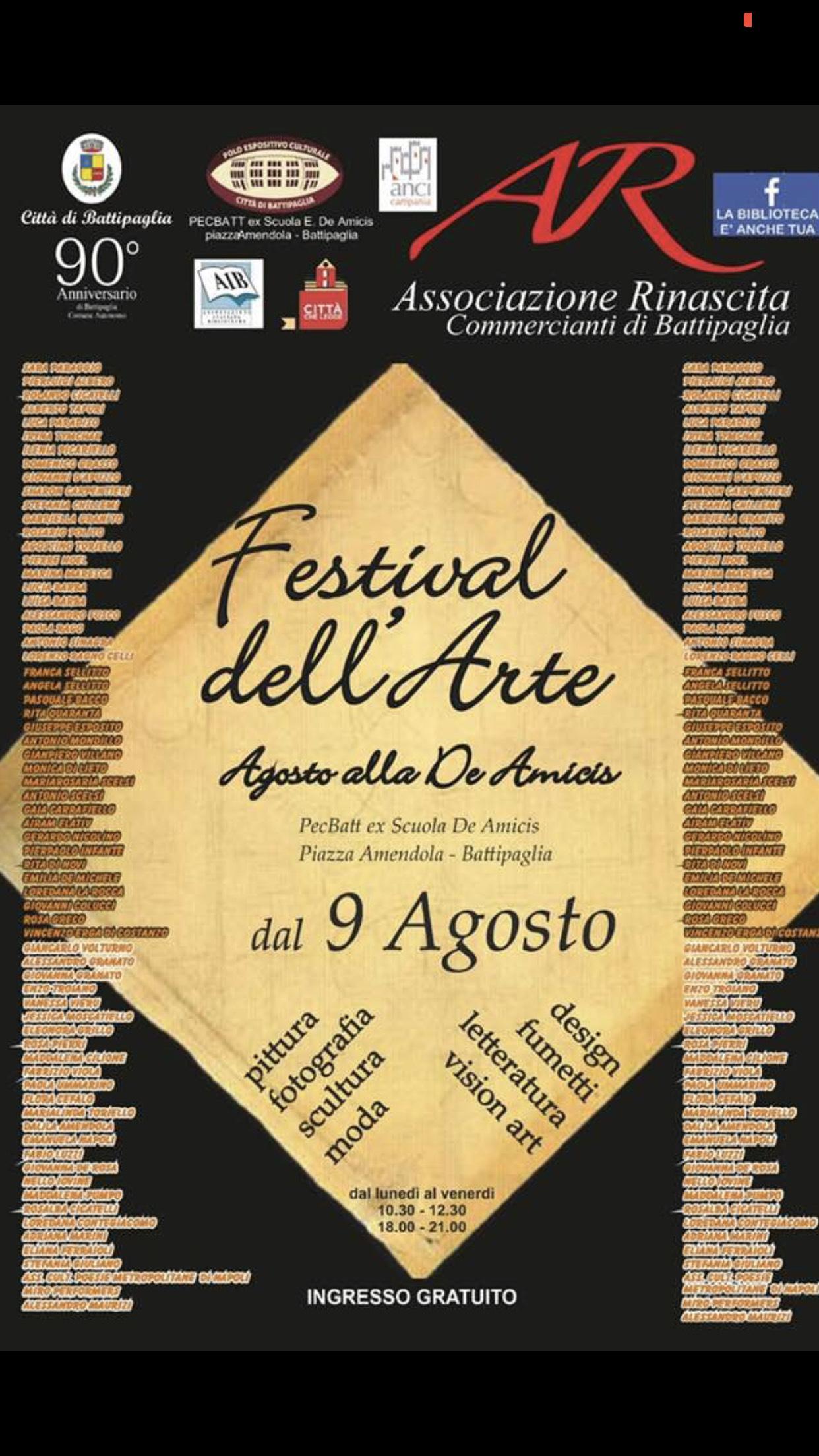 Battipaglia-Festival dell'arte