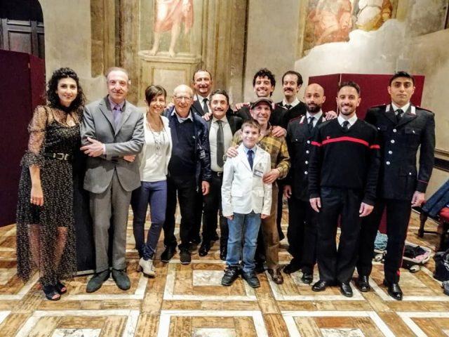 Nicola Acunzo-Borsellino-e la compagnia teatrale