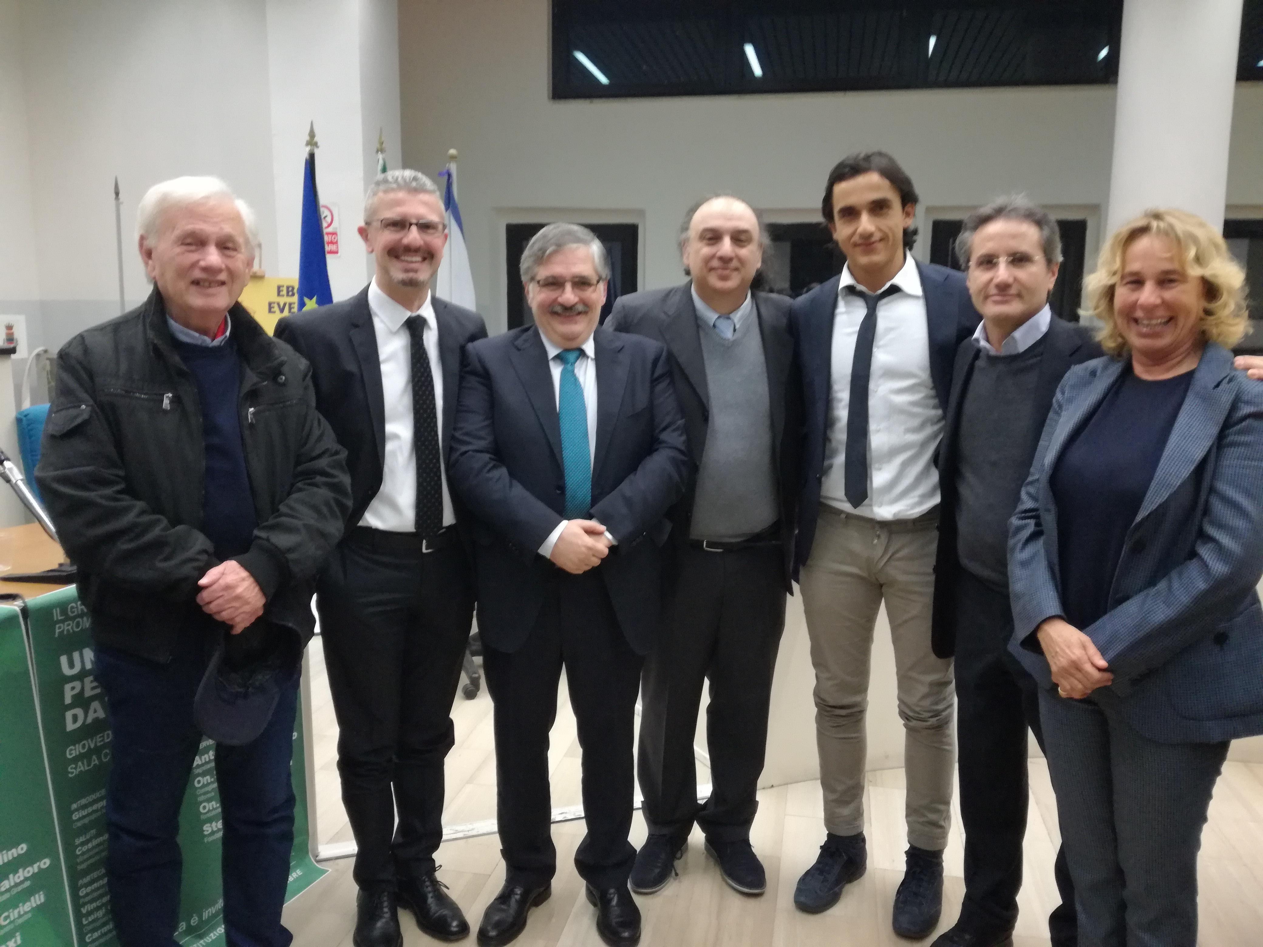 Elio Presutto-Guarracino-Marchesano-Di Benedetto-Piegari-Caldoro-Stefania Craxi