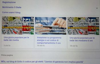 Codice di comportamento m5s-votazioni web