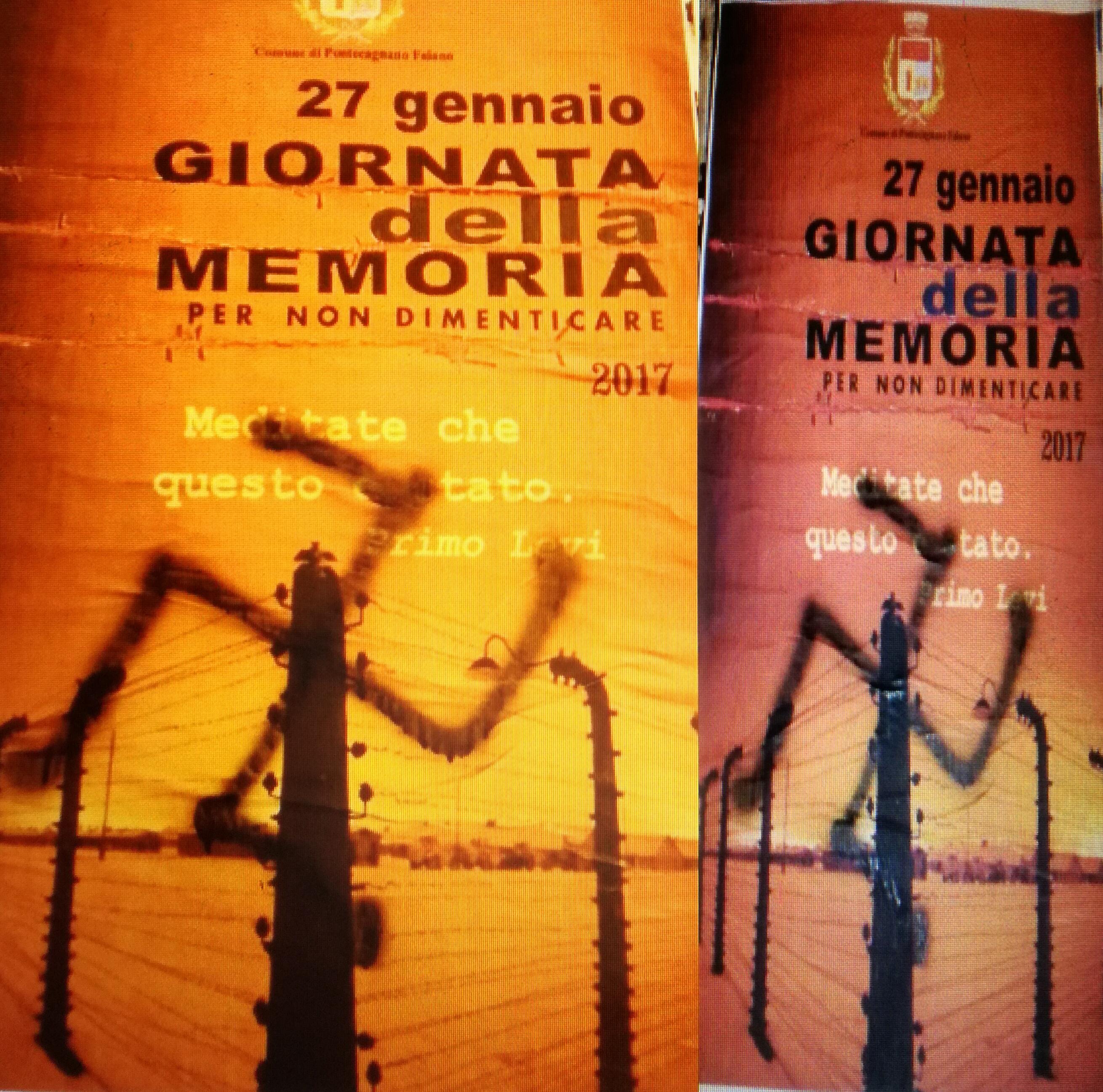 Svastiche sui manifesti dell'Olocausto-Pontecagnano