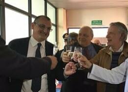 Sindaco Cariello-Minervini-Giordano-inaugurazione ambulatorio pediatrico Eboli