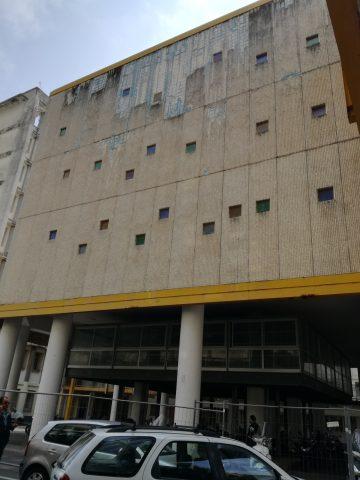 Ospedale Ruggi Salerno padiglione transennato