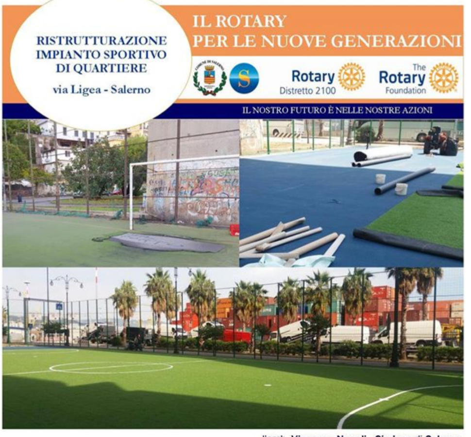 Impianto sportivo-via Ligea-Salerno