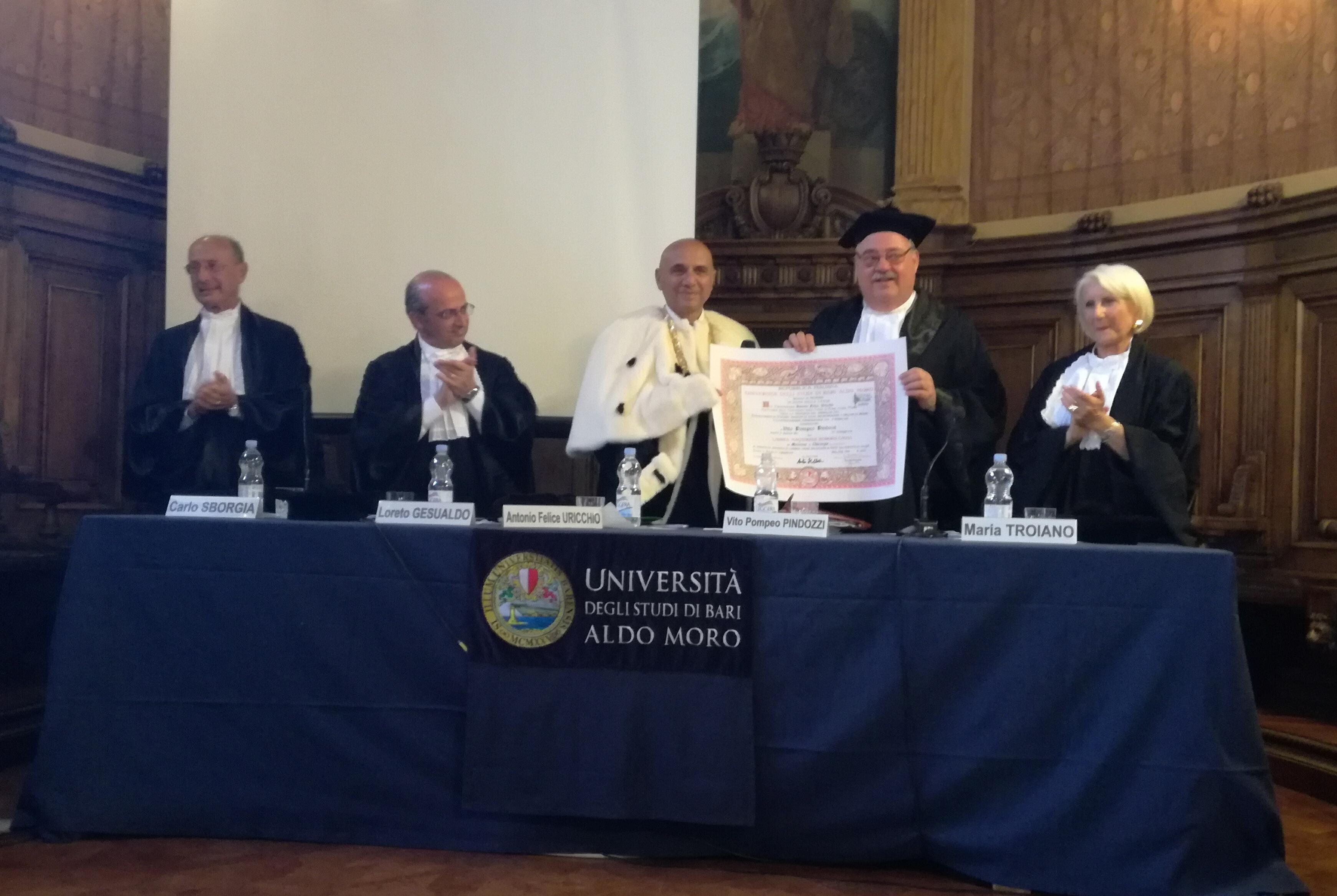 Vito Pompeo Pindozzi-Laurea Honoris Causa-Bari