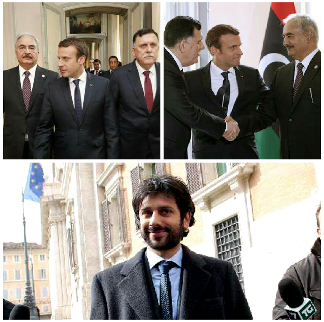 Sarraj-Macron-Haftar-Angelo Tofalo-accordo Libia1