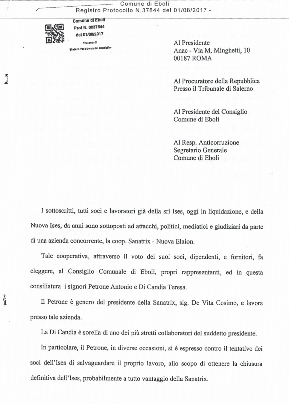 Lettera ANAC1