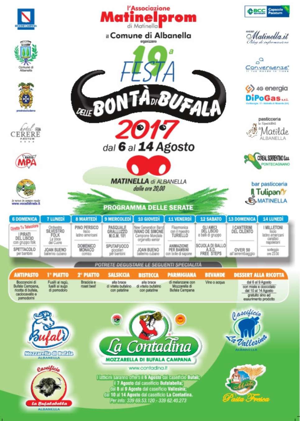 Festa della Bontà di Bufala 2017