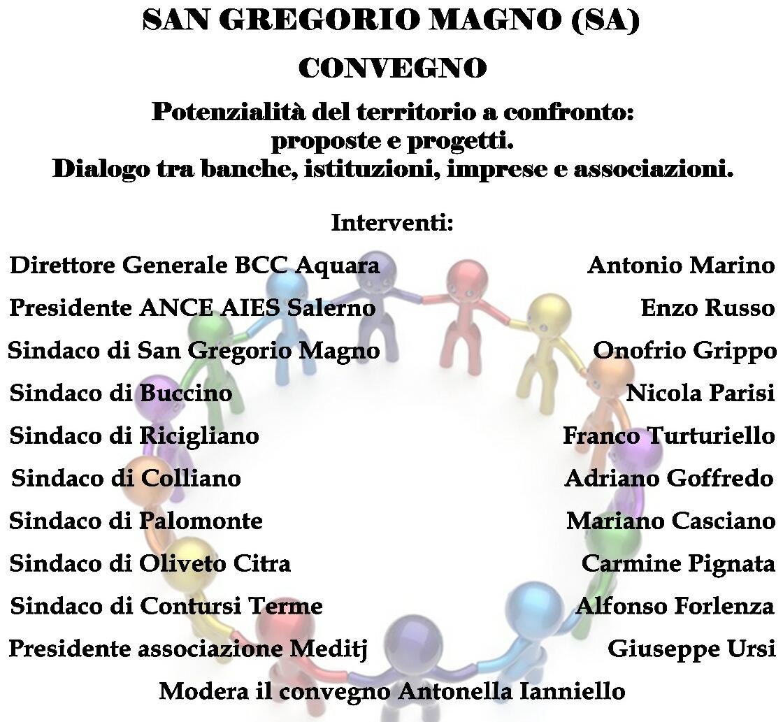 Bcc Aquara-Convegno a San Gregorio Magno