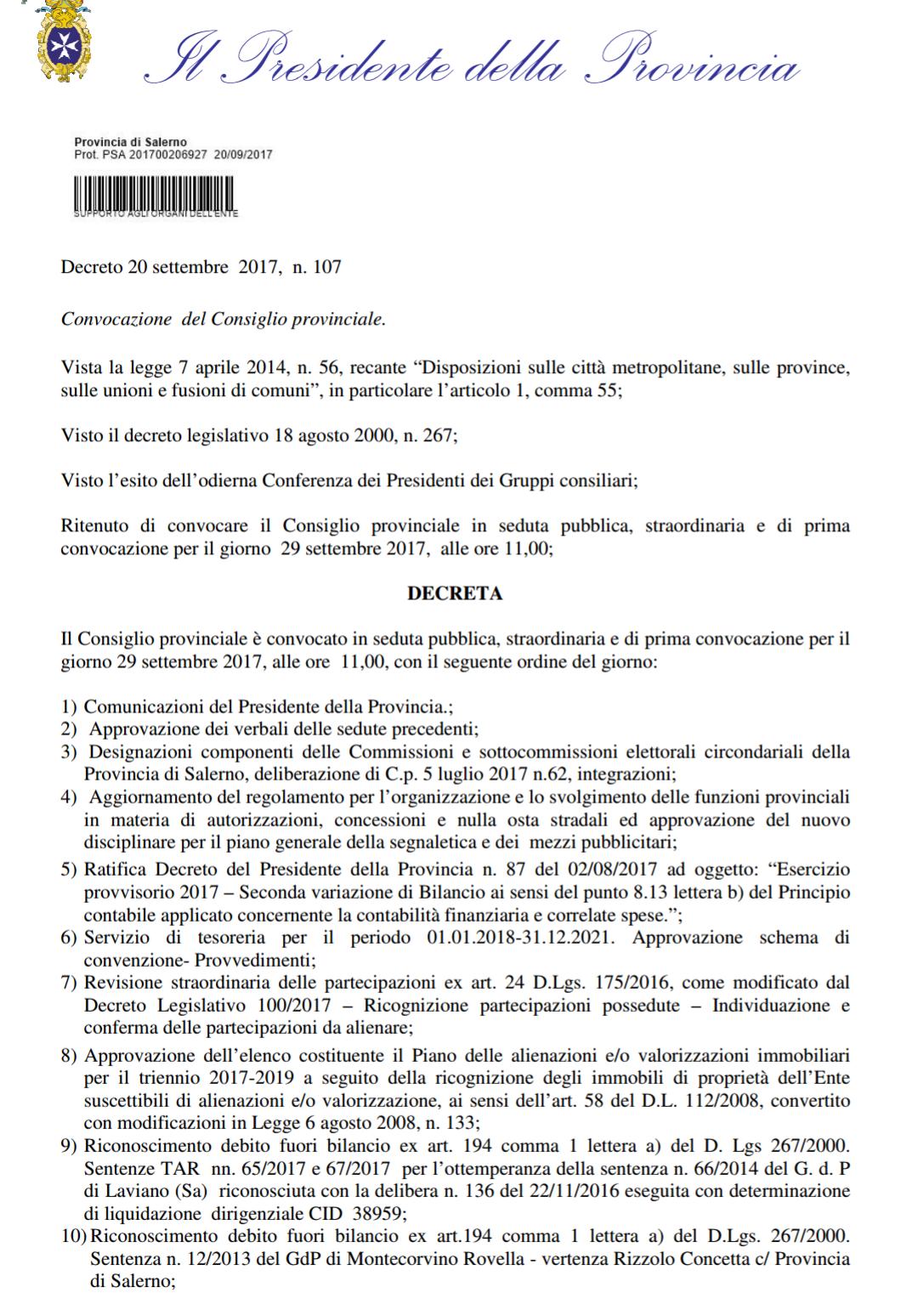 Bando vendita Archivio di stato Salerno1