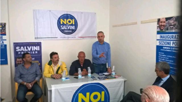 Campagna-Bruno Avagliano con Mariano Falcone-inaugurazione Noi con Salvini