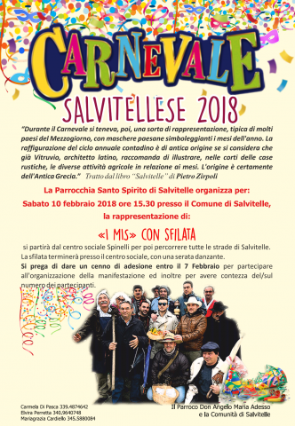 Carnevale salvitellese 2018