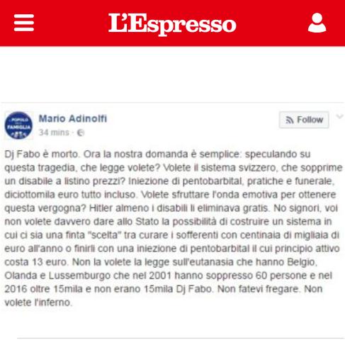 Post Mario Adinolfi