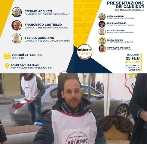 Cosimo Adelizzi-appuntamenti elettorali-M5S