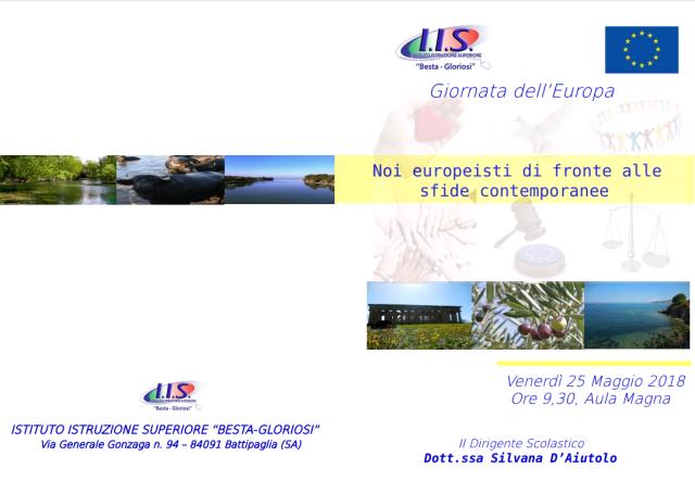 Giornata dell'Europa al Besta-Gloriosi-Battipaglia