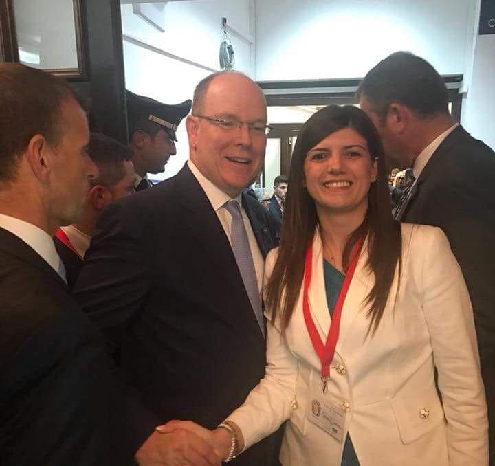 Carmen D'Ambrosio con Ranieri di Monaco