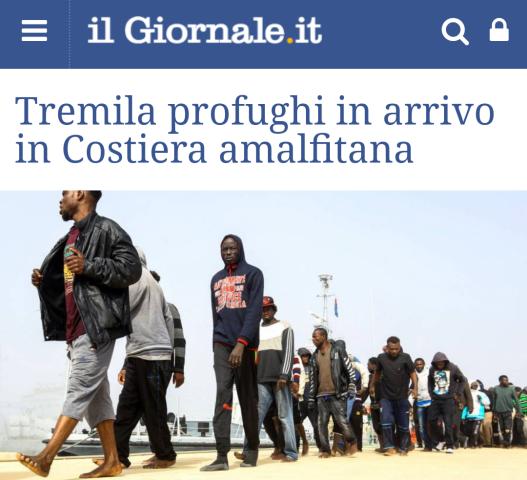 Profughi in arrivo in costiera
