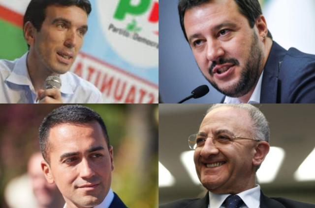 Martina-Salvini-Di Maio-De Luca