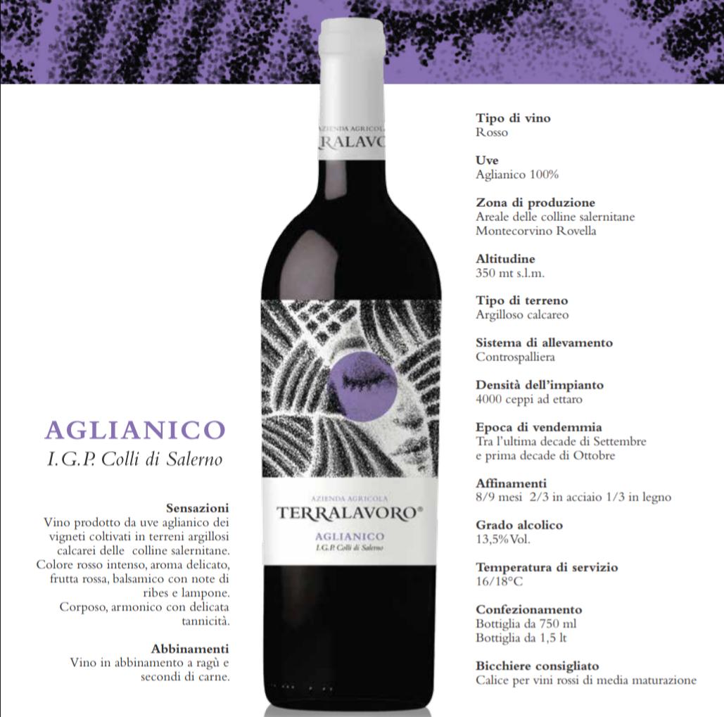 Azienda Agricola Terralavoro-produzione-Aglianico Igp colli Salerno