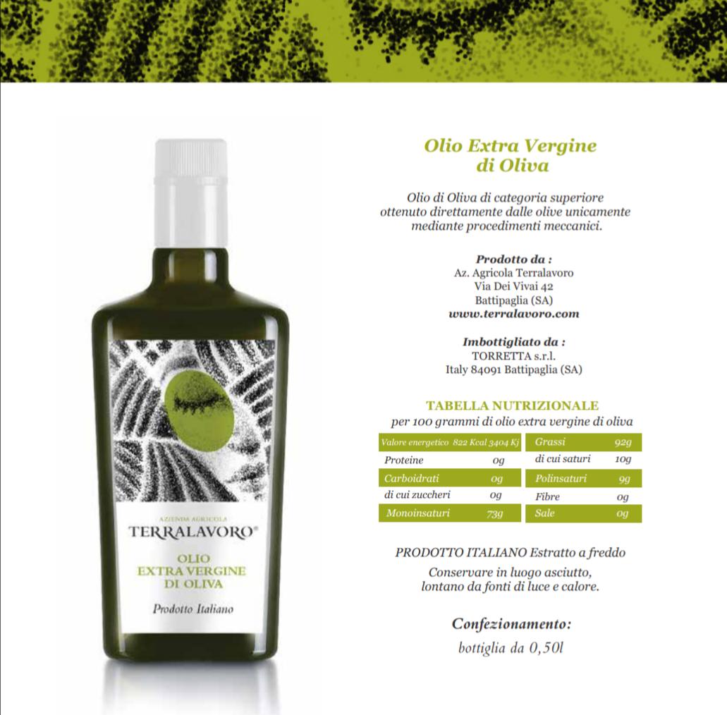 Azienda Agricola Terralavoro-produzione-Olio extra vergine di oliva