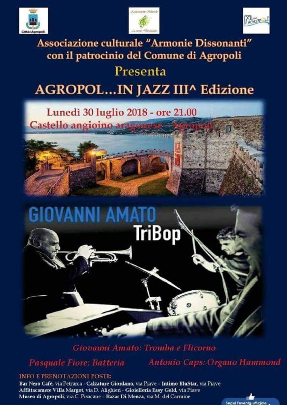 """""""AGROPOL…IN JAZZ""""-Giovanni Amato Trio in Concerto"""