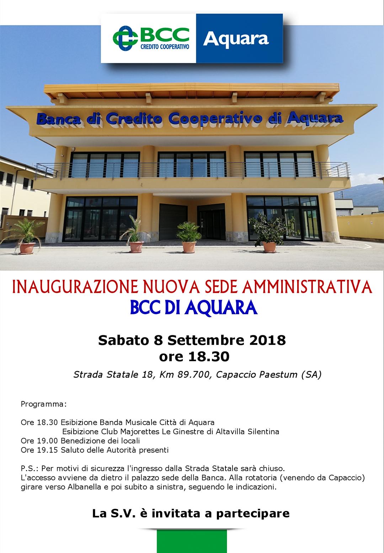 Bcc Aquara inaugurazione sede Amministrativa Capaccio Scalo