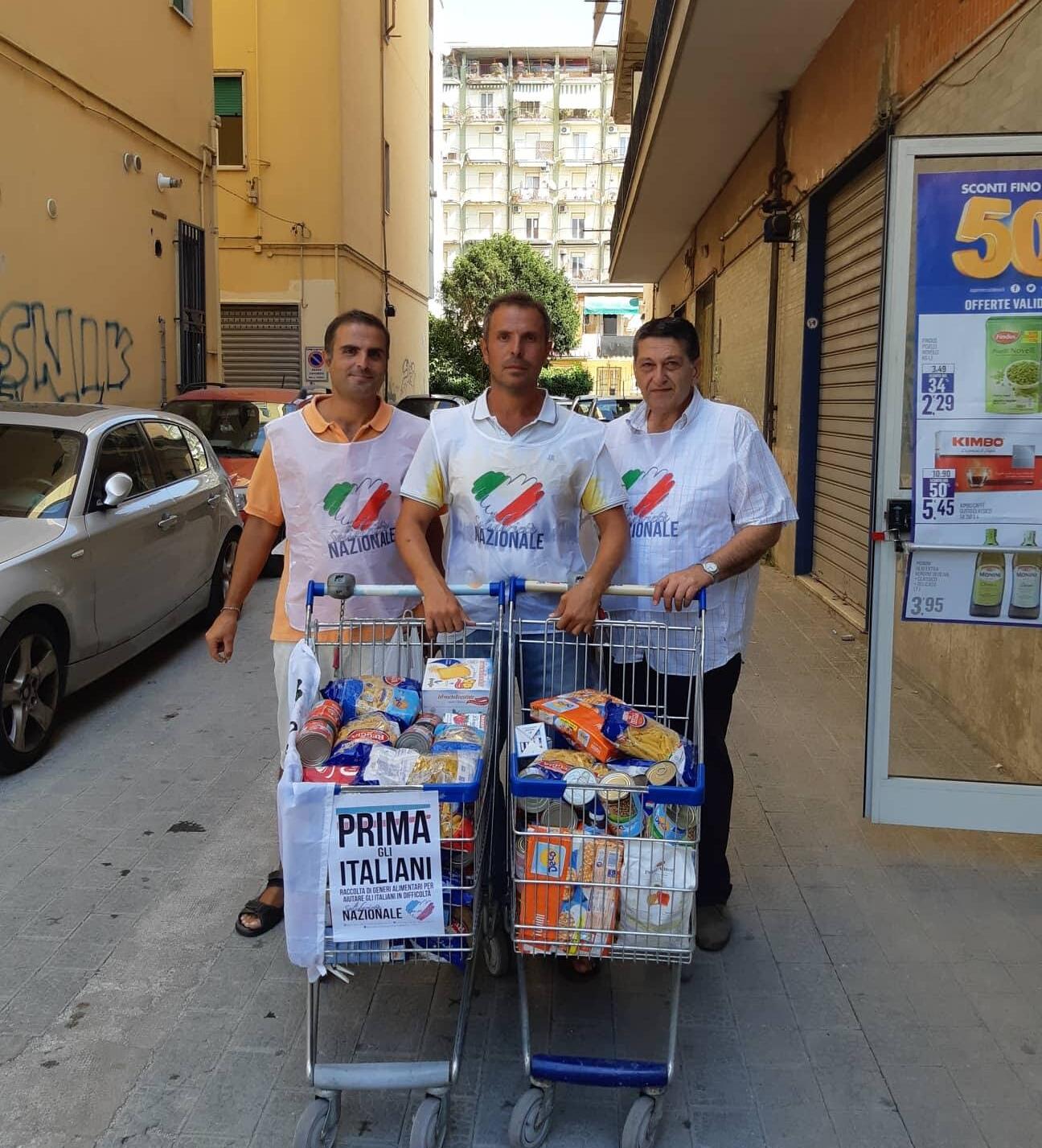 Solidarietà-Forza Nuova-Battipaglia-prima gli italiani