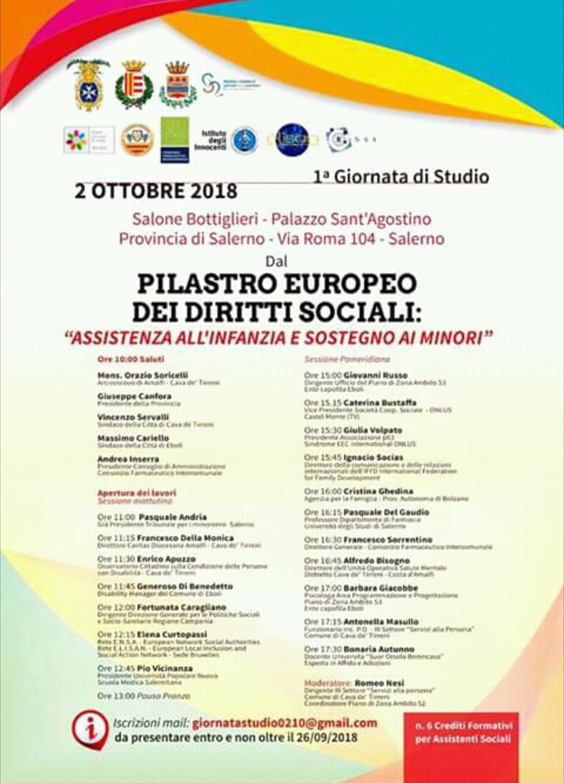 Assistenza infanzia-convegno Salerno