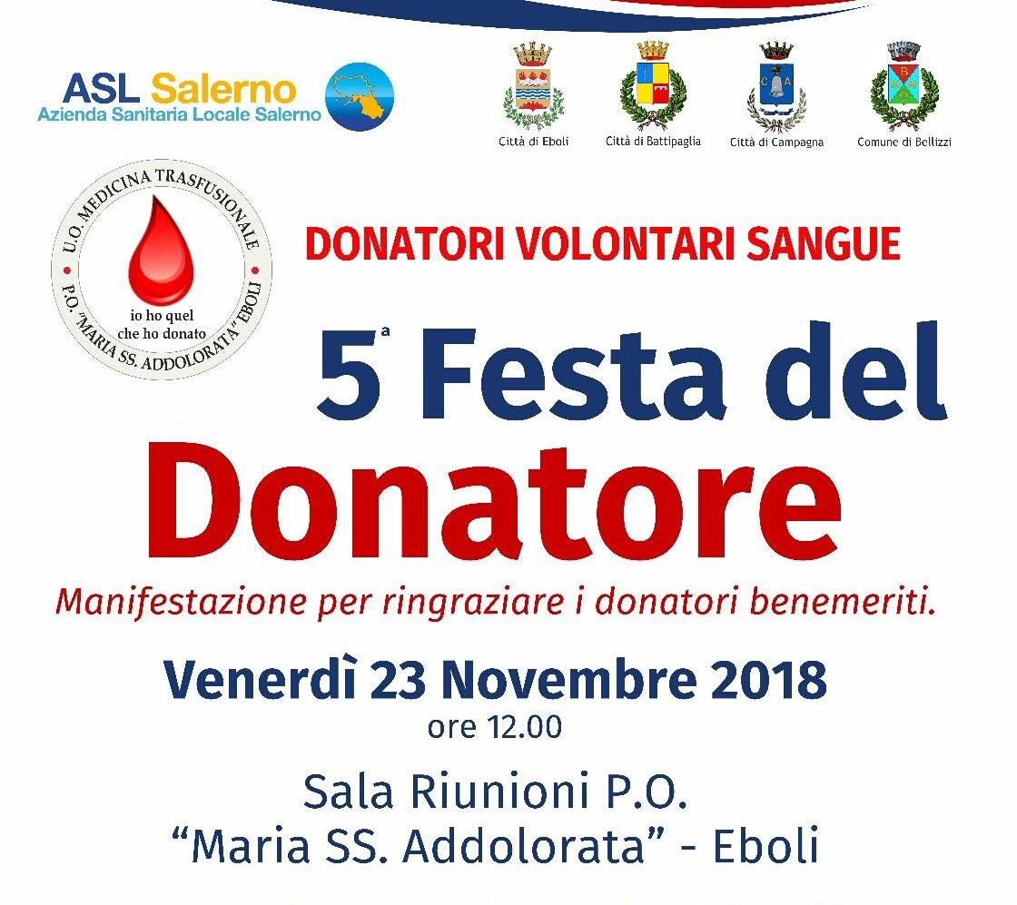 Eboli festa del donatore 2018